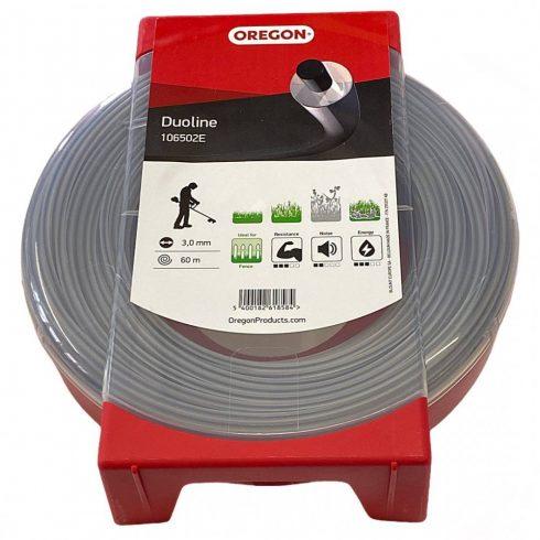 Oregon® 106502 fűkasza damil ∅ 3.0 mm Duoline® kör profil - 60 fm - 106502- Made in EU - eredeti minőségi alkatrész*