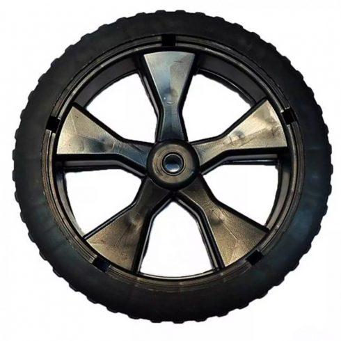 Agrimotor® elektromos fűnyíró első kerék - wheel front -  2012 gyártású - FM 3310 el. fűnyíróhoz, dísztárcsa, csavar  nélkül  - eredeti minőségi alkatrész * **