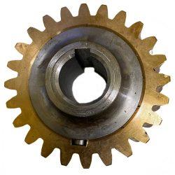 Agrimotor csigakerék-bronzkerék Z24 Aratrum51 / Rotalux5 - rotációs kapálógép alkatrész * **