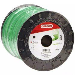 Oregon fűkasza damil 2.4 mm szögletes profil - zöld - 69-415 - Made in USA - eredeti minőségi alkatrész * **