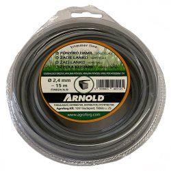Arnold fűkasza damil 2.4 mm szögletes  profil - ALU - 15 m - eredeti alkatrész * ** ***