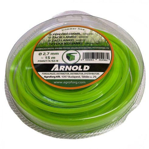 Arnold fűkasza damil ∅2.7 mm négyszög profil - 15 m - eredeti alkatrész*