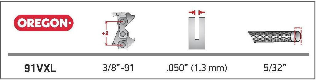 Oregon® VersaCut™ láncfűrész lánc - 91VXL060E