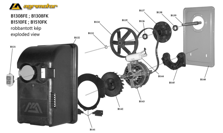 Agrimotor® betonkeverő hajtás tengely 155 L /197 mm/ - 53023926 - powered shaft - B150 L - eredeti minőségi alkatrész*