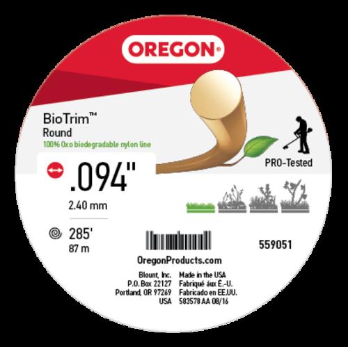Oregon® 559051 fűkasza damil ∅ 2.4 mm BIOTRIM® kör profil - 87 fm