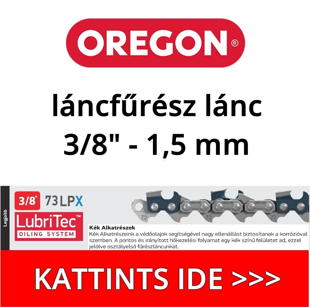 """Oregon 3/8"""" - 1,5 mm - 73LPX láncfűrész lánc"""