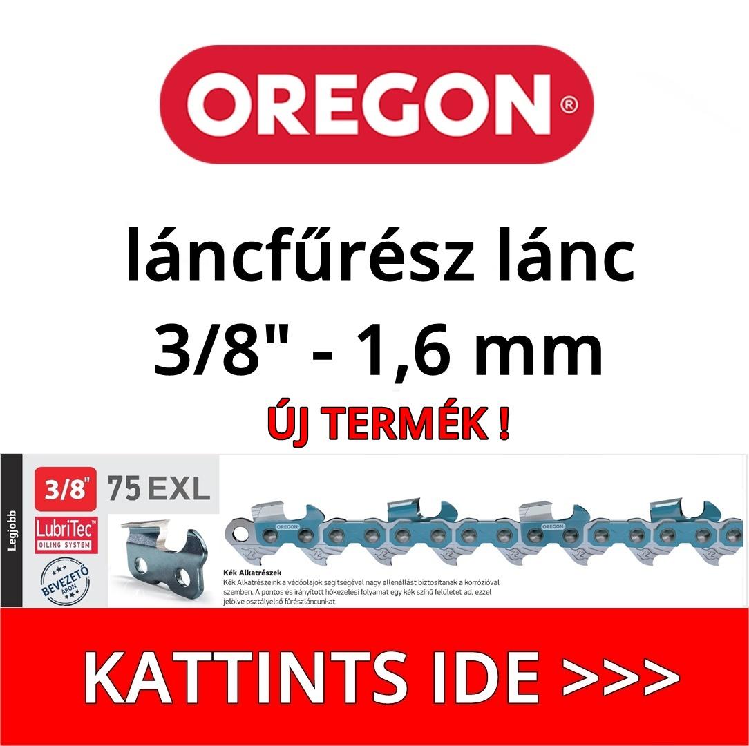 """Oregon 3/8"""" - 1,6 mm - 75EXL láncfűrész lánc"""