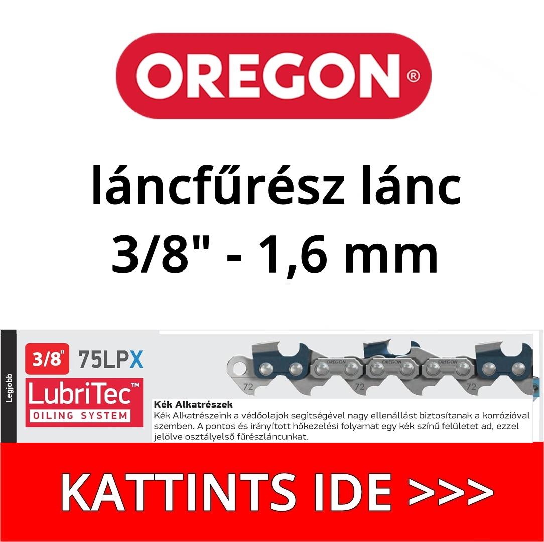 """Oregon 3/8"""" - 1,6 mm - 75LPX láncfűrész lánc"""