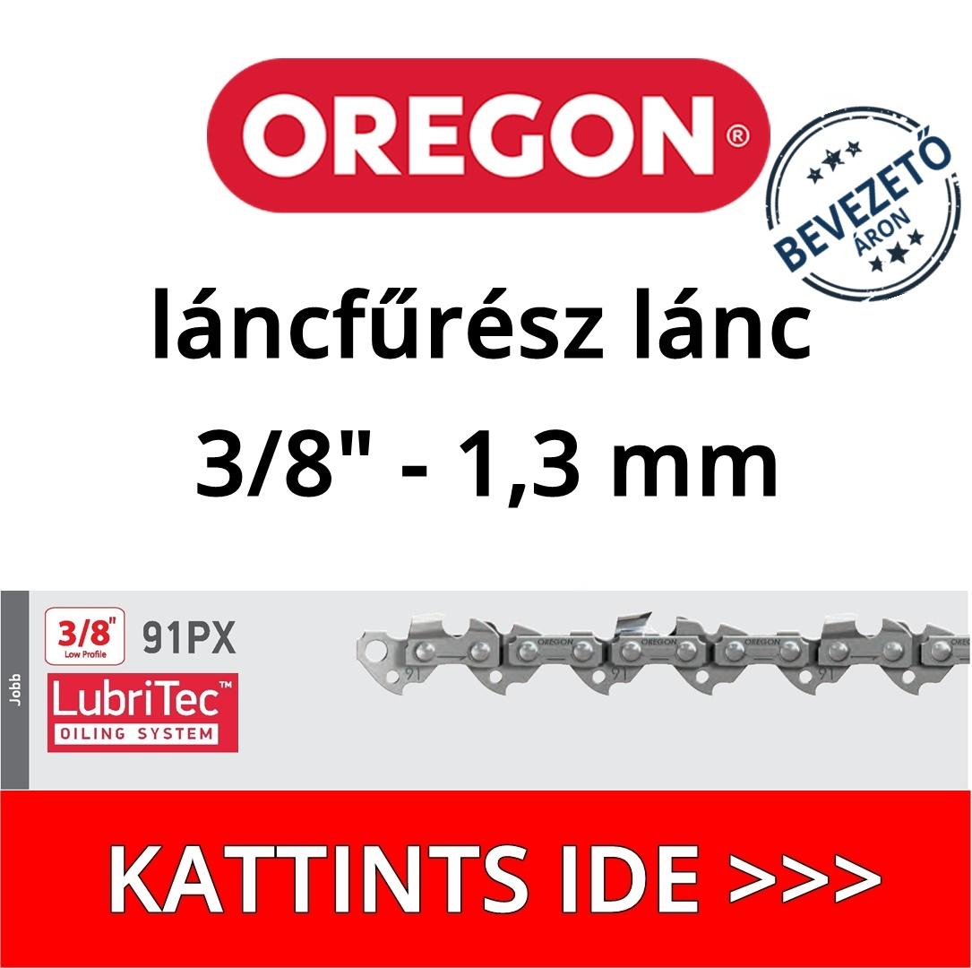 """Oregon 3/8"""" 1,3 mm 91PX láncfűrész lánc"""