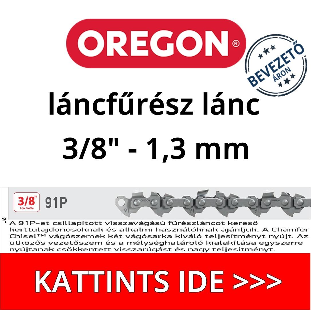 """Oregon 3/8"""" 1.3 mm 91P láncfűrész lánc"""