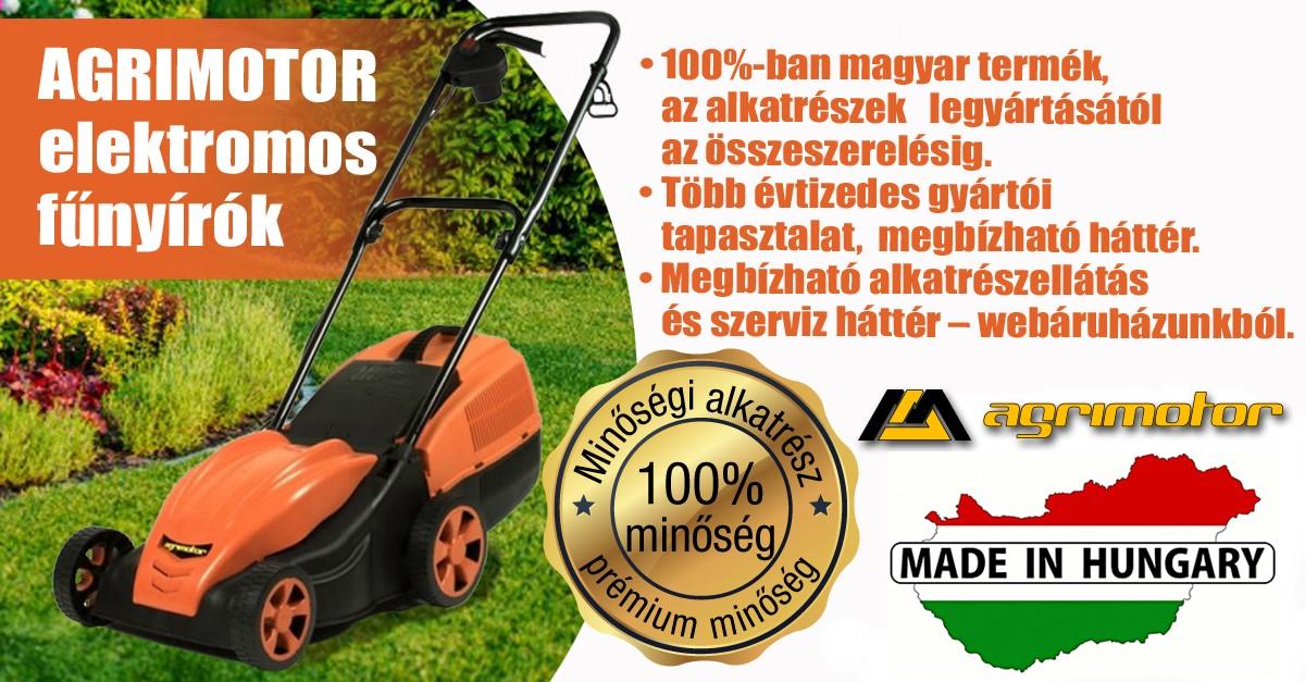 Agrimotor® FM 3310 elektromos fűnyíró - fűgyűjtős - ∅ 33 cm - 1000 W - Made in Hungary