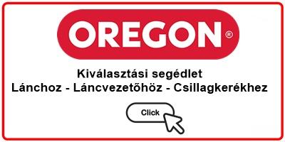 Oregon kiválasztási segédlet lánc, láncvezető, csillagkerék