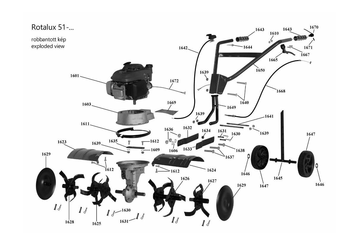 Agrimotor® 55034957 stopkapcsoló - vészleállító - Rotalux51 - rotációs kapálógép - 1670 eredeti minőségi alkatrész*