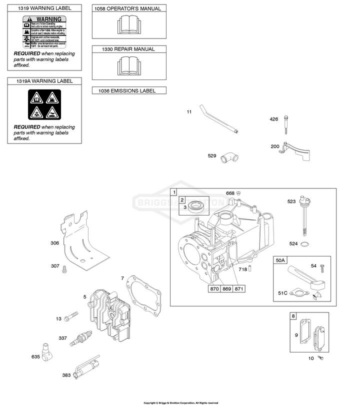 Briggs & Stratton® 792388 szívócső - eredeti minőségi alkatrész